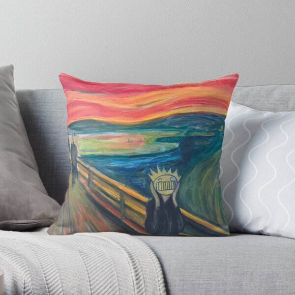 The Scream, or The WEEN? Throw Pillow