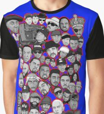 old school hip hop legends collage art Graphic T-Shirt
