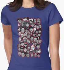 old school hip hop legends collage art Women's Fitted T-Shirt