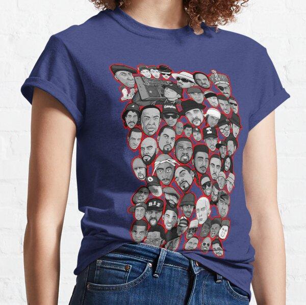 Old School Hip Hop Legenden Collage Kunst Classic T-Shirt