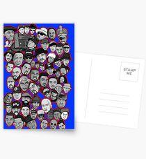 old school hip hop legends collage art Postcards