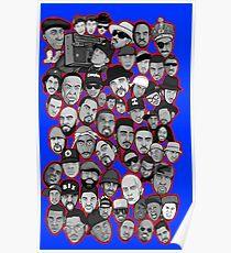 Póster old school hip hop legends collage art