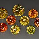 Faceted gem sphalerites by Egor Gavrilenko