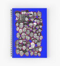 old school hip hop legends collage art Spiral Notebook