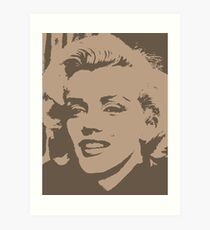 Marilyn Monroe Pop Art Brown Art Print