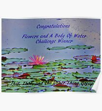 Challenge Winner Banner -Flowers and a Body of Water Poster