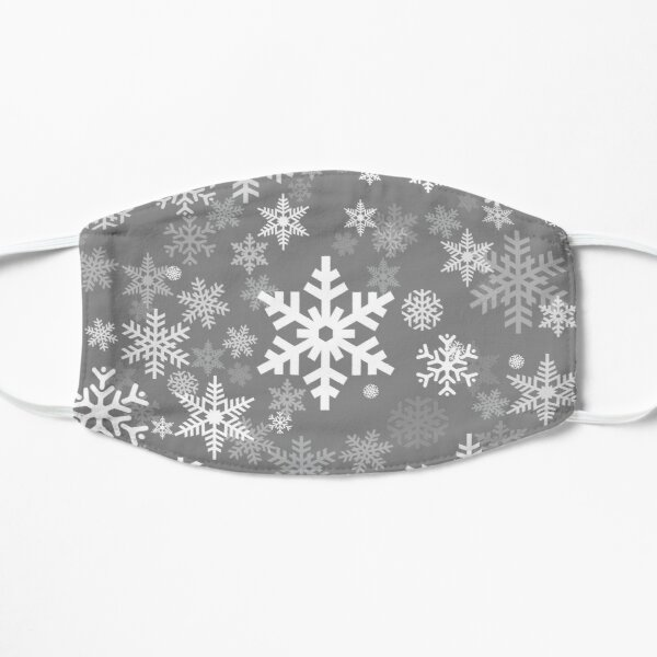 Snowflakes Pattern in Grey Mask