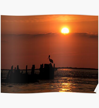 San Luis Pass Sunset Poster