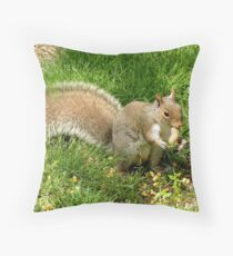 Squirrel with a peanut. Throw Pillow