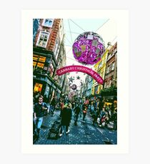 Carnaby Christmas Party Art Print