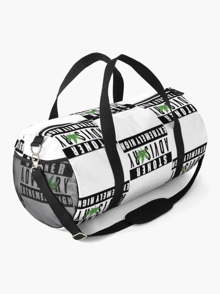 Alternate view of Stoner Advisory, Extremely High Duffle Bag