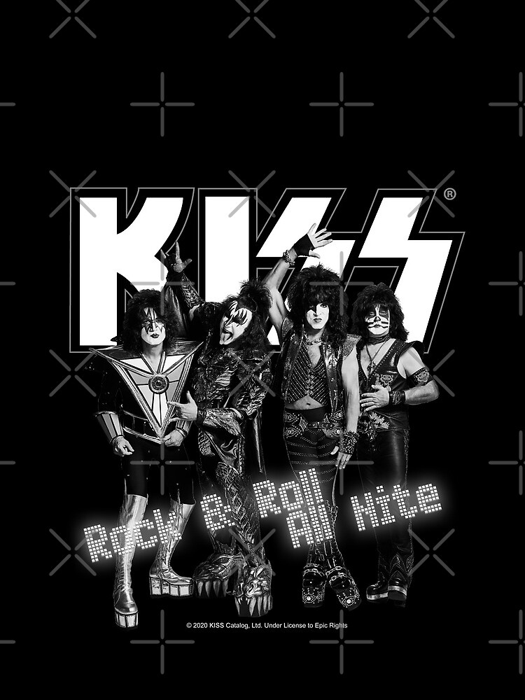 KISS ® Rock & Roll All Nite - Full Black and White by musmus76