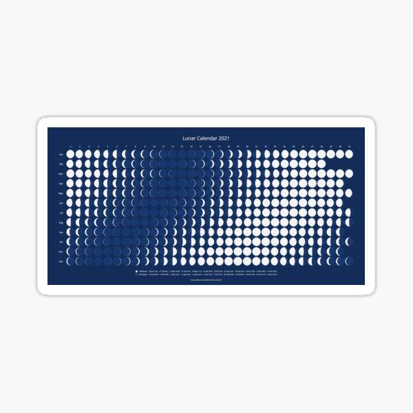 Lunar Calendar for 2021 Sticker