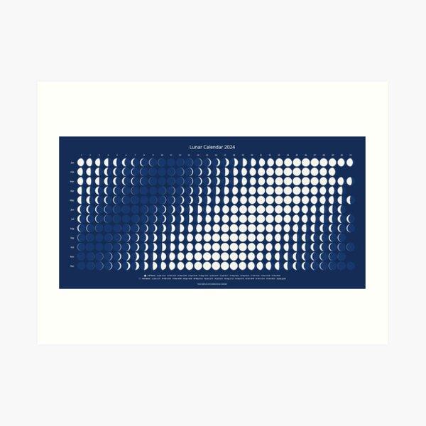 Lunar Calendar for 2024 Art Print