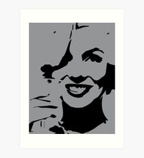 Marilyn Monroe Pop Art Gray Art Print