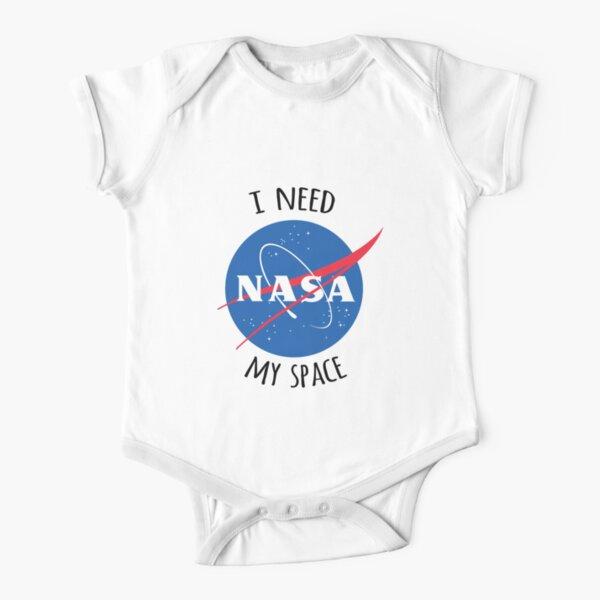 I Need My Space (NASA) Short Sleeve Baby One-Piece