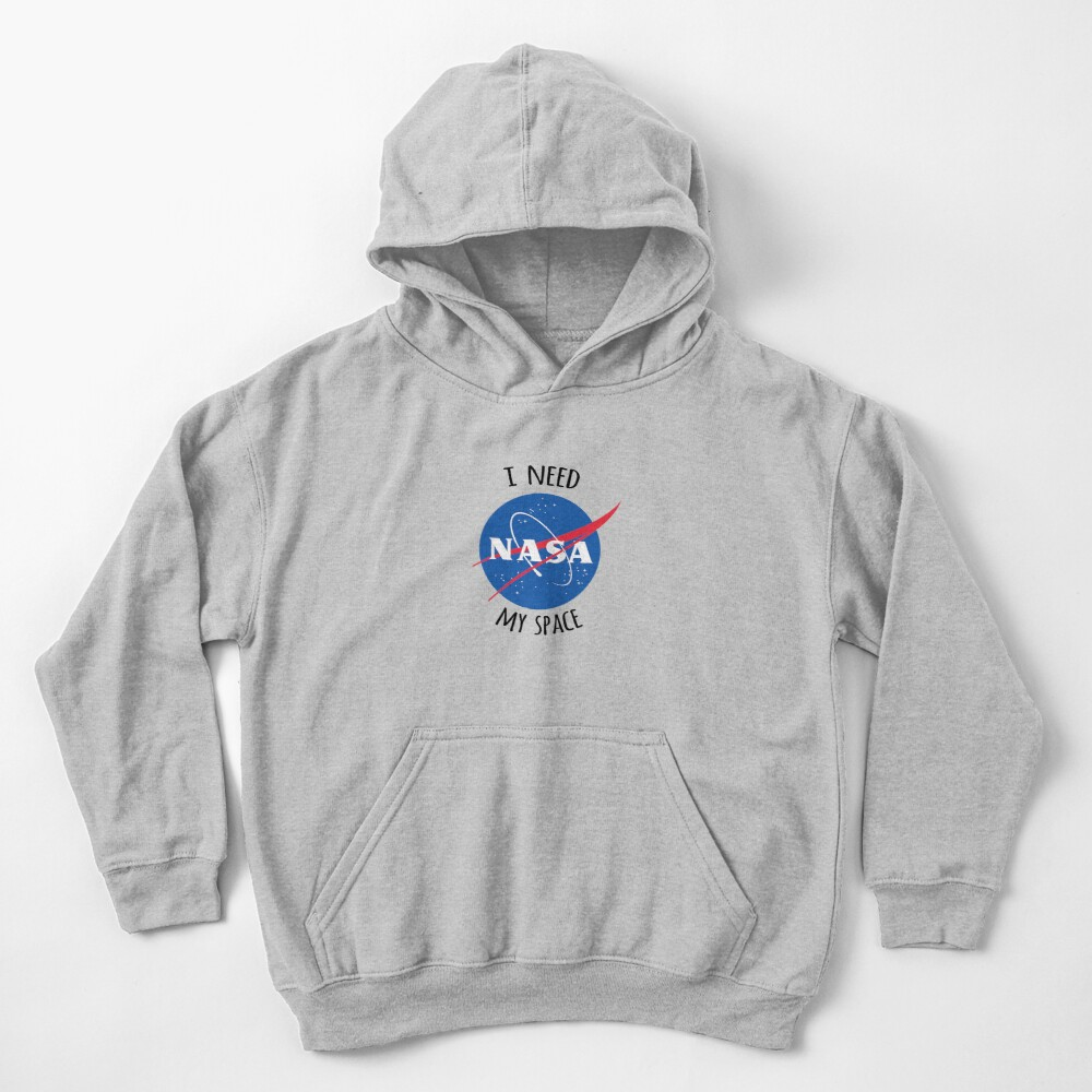 I Need My Space (NASA) Kids Pullover Hoodie