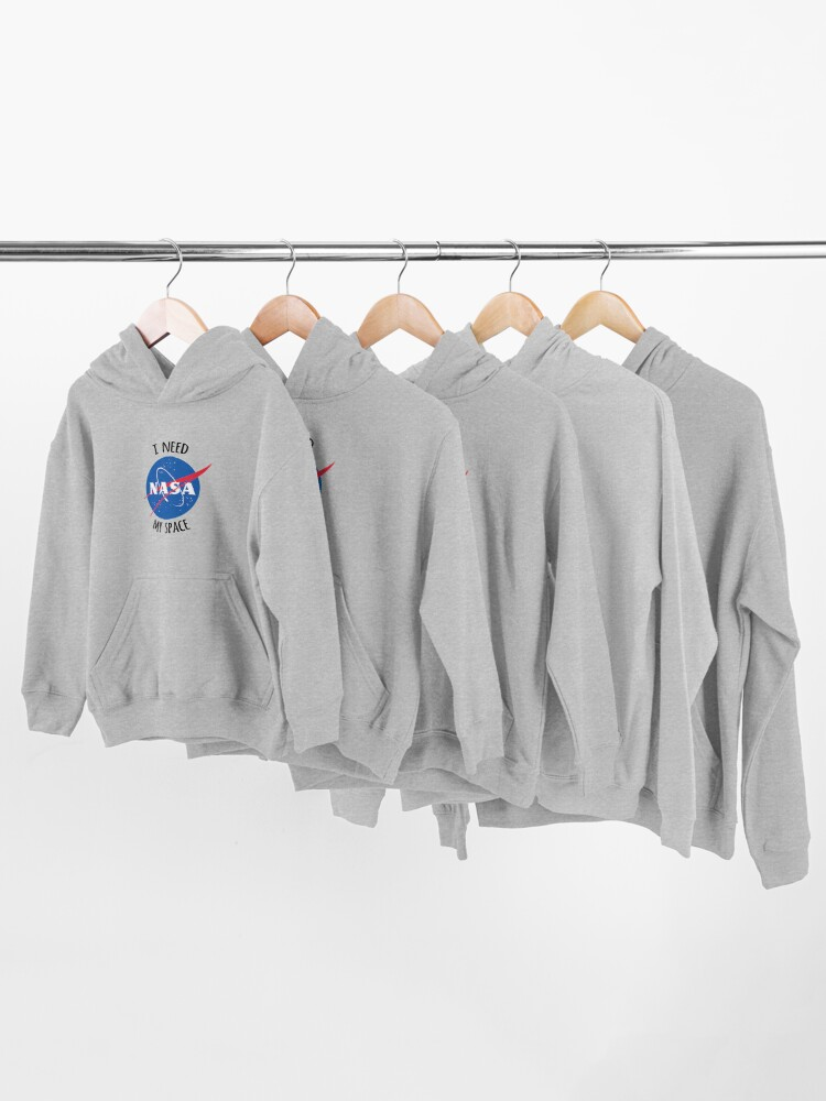 Alternate view of I Need My Space (NASA) Kids Pullover Hoodie