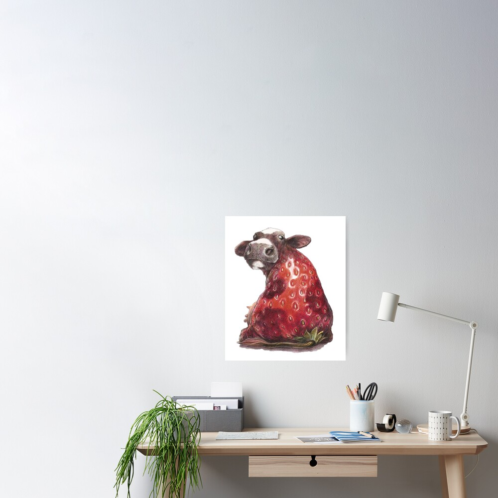fanny strawberry cow Poster