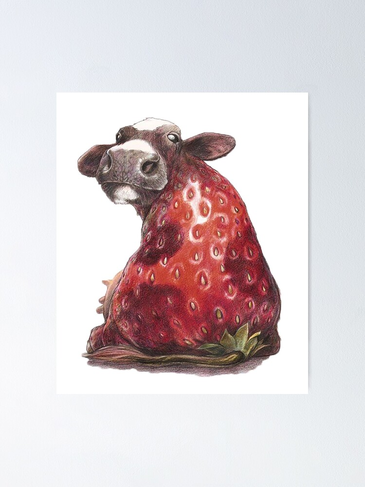 Alternate view of fanny strawberry cow Poster