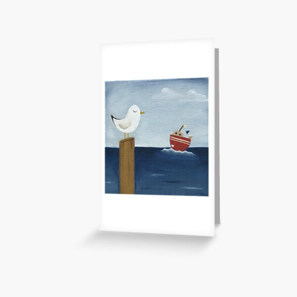 Seagul Of My Heart Greeting Card