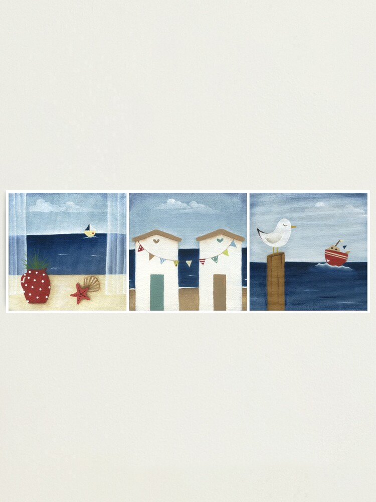 Alternate view of Costal Shabby - triptic Photographic Print