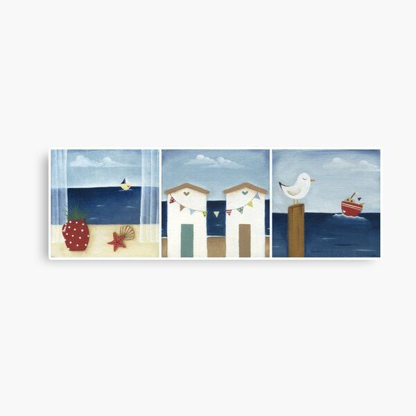 Costal Shabby - triptic Canvas Print
