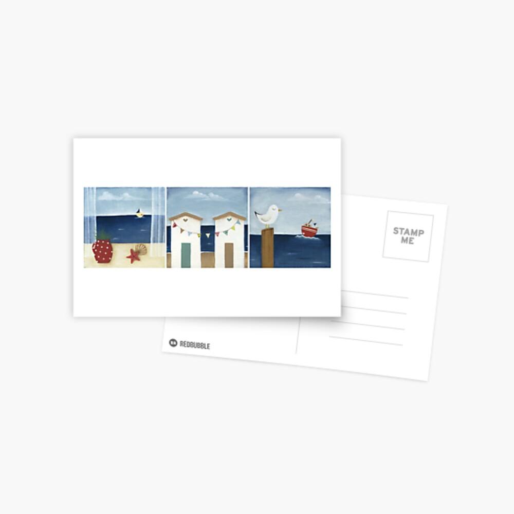 Costal Shabby - triptic Postcard