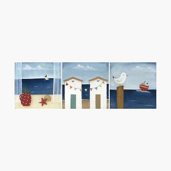 Costal Shabby - triptic Photographic Print