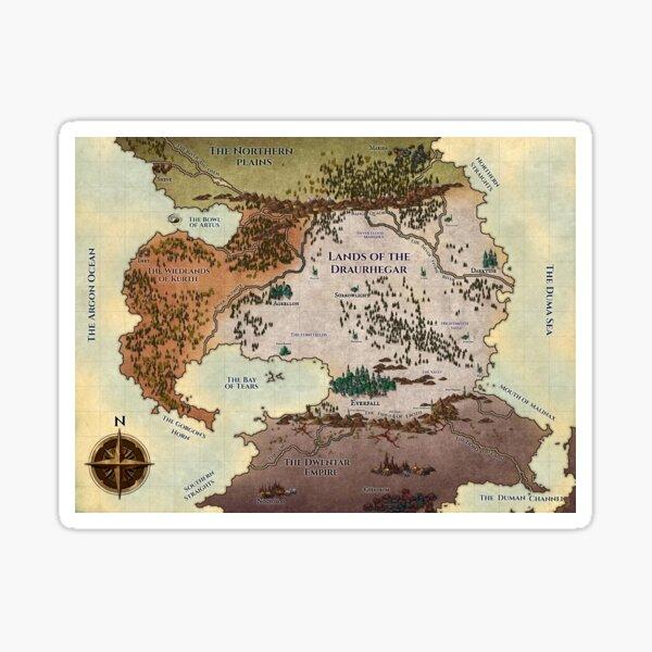 Lands of the Draurhegar Original Map Sticker