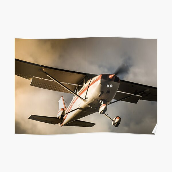 Sunset Arrival Cessna 172 Poster