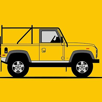 A Graphical Interpretation of the Defender 90 NAS Soft Top by 3pedaldriving