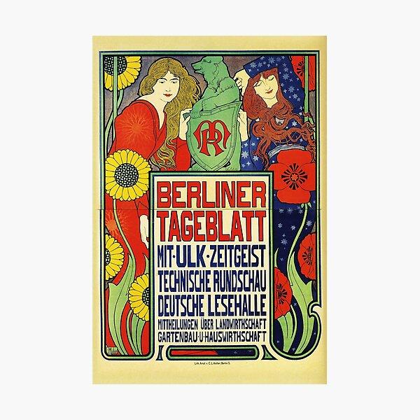 HD. Berliner Tageblat, by Ephraim Moshe Lilien  Photographic Print