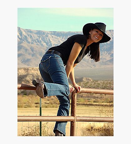 All American Cowgirl Photographic Print