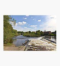 The Weir @ Boroughbridge Photographic Print