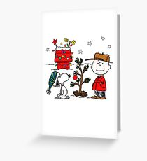 Snoopy and Charlie Brown Greeting Card