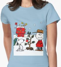 Snoopy and Charlie Brown Women's Fitted T-Shirt