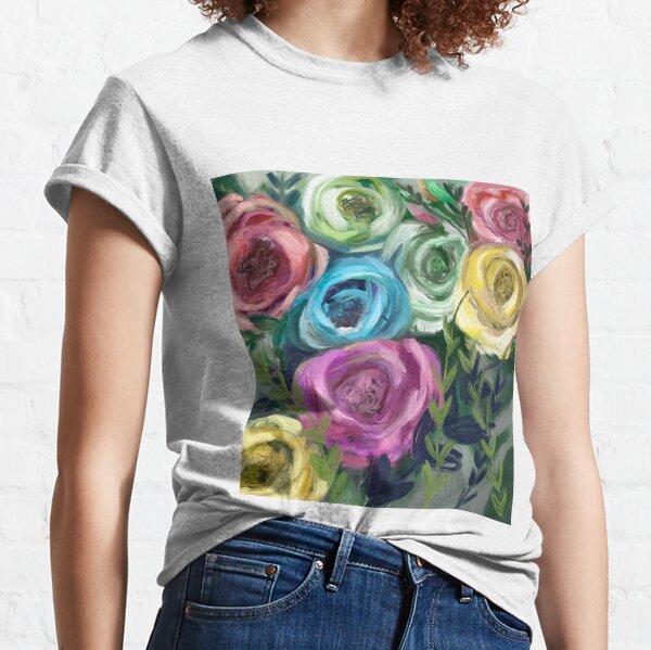 Rose Flowers Bouquet Meadow  Classic T-Shirt