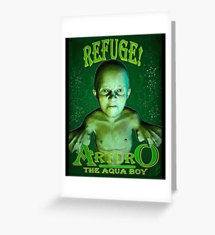 Arturo the Aqua Boy Greeting Card