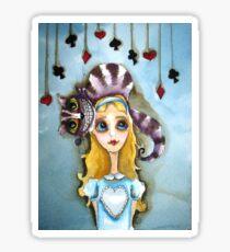 Alice in Wonderland - cat head Sticker