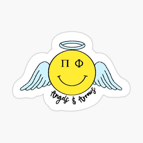 Pi Phi Angel Smiley Sticker