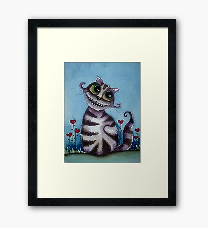 The Cheshire Cat - big smile Framed Print