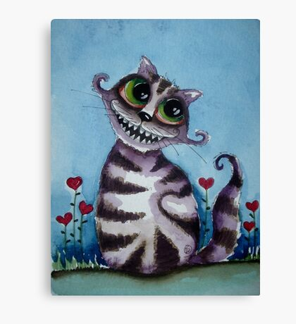 The Cheshire Cat - big smile Canvas Print