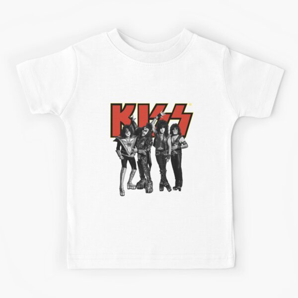Kiss - Group Band Logo - Full Yellow and Red Kids T-Shirt