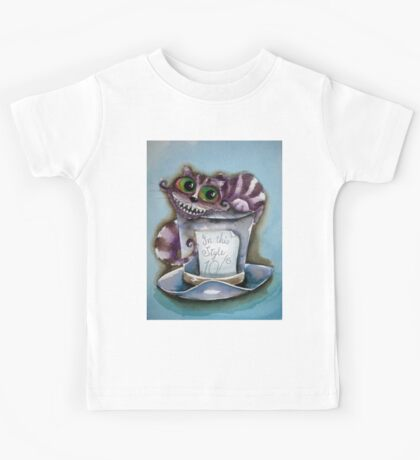 Cheshire Cat on a top hat Kids Clothes