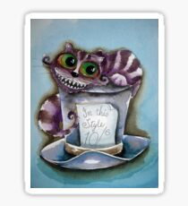 Cheshire Cat on a top hat Sticker