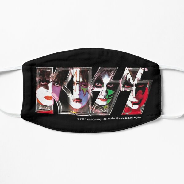 Kiss Band Logo - All Members Faces Flat Mask