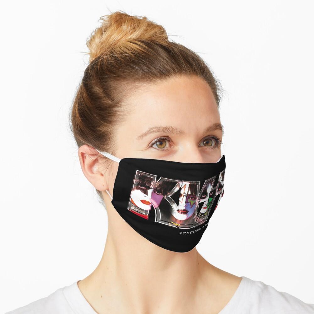 Kiss Band Logo - All Members Faces Mask