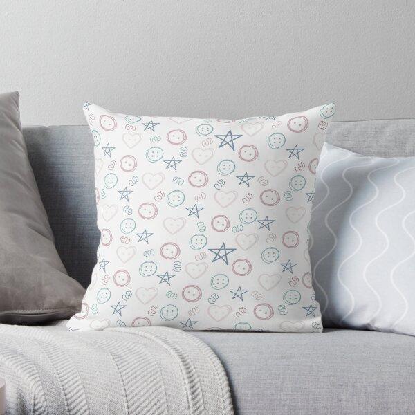Gender Neutral Nursery Pattern, Plum Throw Pillow
