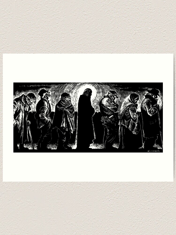 Alternate view of Jesus of the Breadlines Art Print